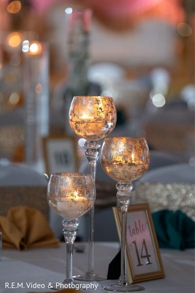 Marvelous Indian wedding table centerpiece.