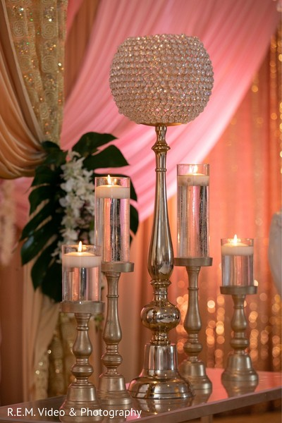 Incredible Indian wedding stage candles decorations.