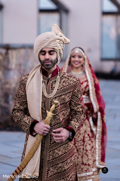 Lovely Indian groom about to meet his bride