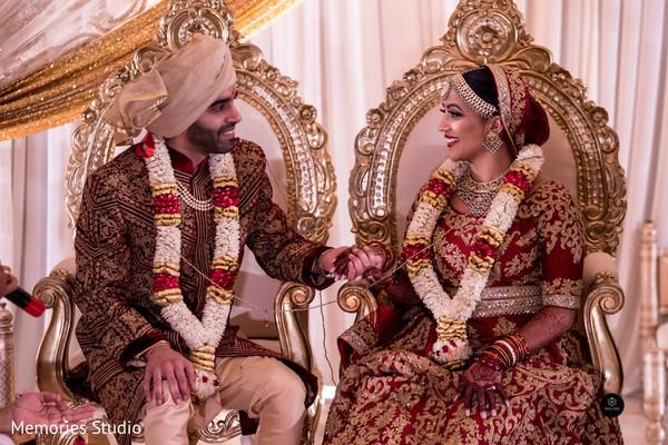 Dazzling indian lovebirds portrait