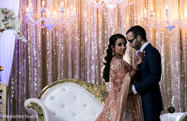 Brilliant Indian bride and groom wedding photo session