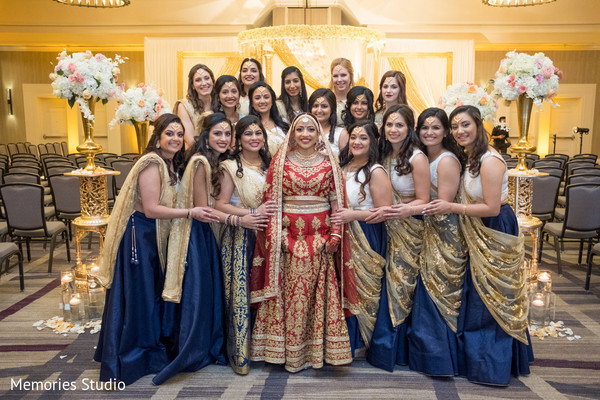 Amazing Indian bride and bridesmaids photography