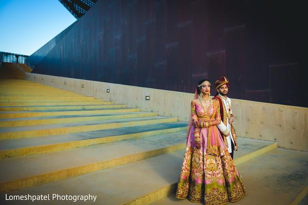 Indian bride looking amazing with Raja.