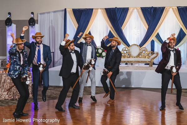 See this funny performance between groom and groomsmen