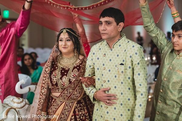 Indian bride's grand entrance
