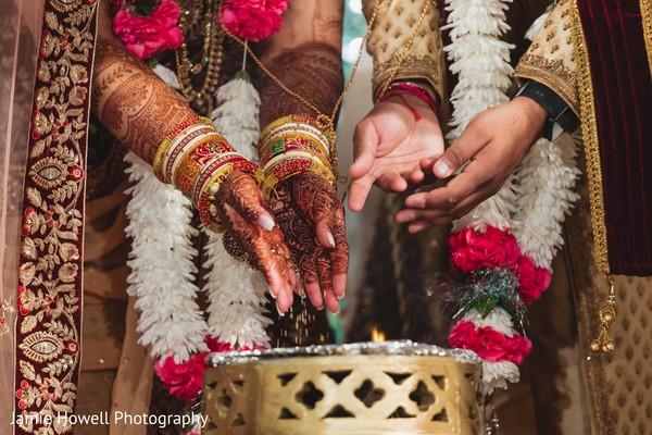 Indian lovebirds wedding ritual