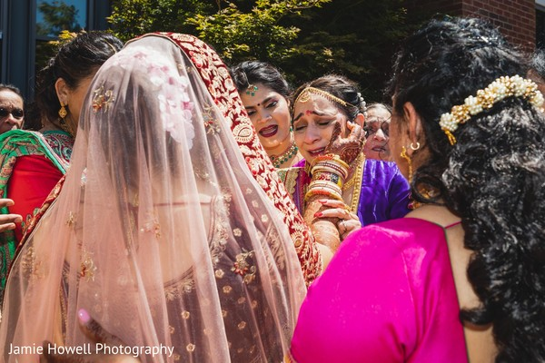 Heartwarming Indian bride and indian mother capture
