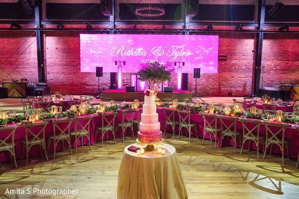 Wonderful stage decoration and cake.