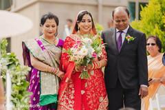 Indian bride making her entrance.