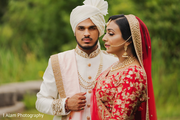 Indian bride and groom looking totally amazing.
