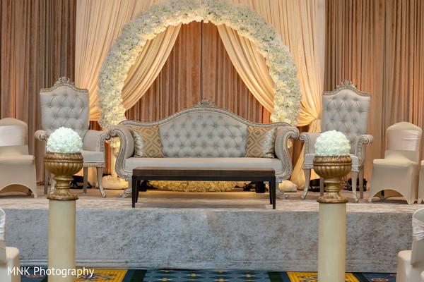 Indian wedding ceremony stage decor