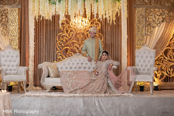Dazzling indian bride and Groom