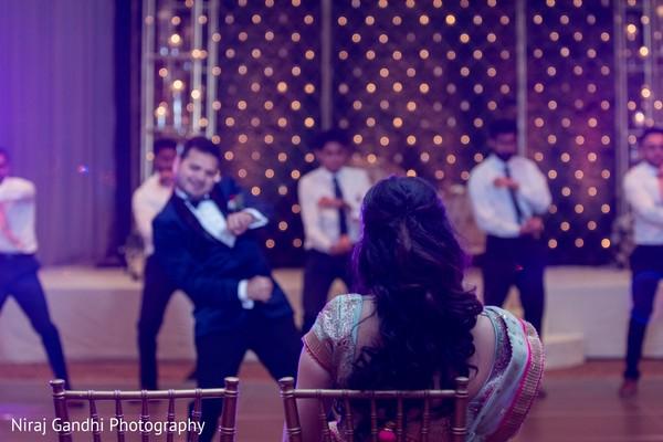 Indian groom dancing for his Maharani.
