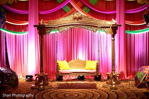 Stunning Sangeet stage decoration.
