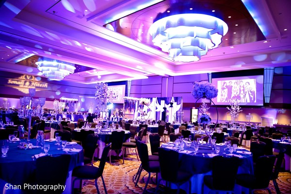 Incredible lights decorations for Indian wedding reception.