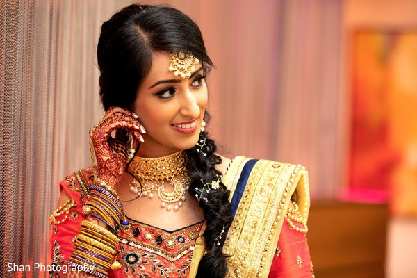 Take a look at this enchanting Indian bride pre-wedding look.