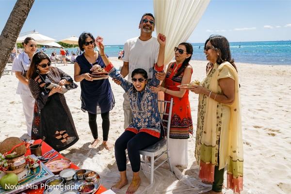Maharani at her pre-wedding celebration.