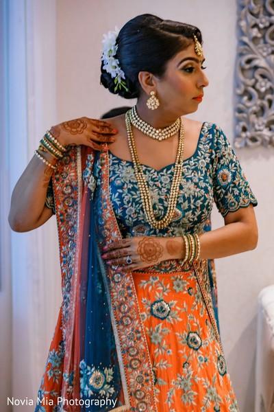Enchanting Indian bride ceremony look.