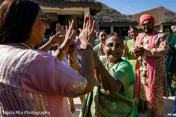 Traditional milni ritual scene.