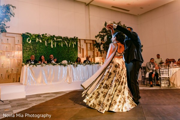 Indian couple having their first dance.