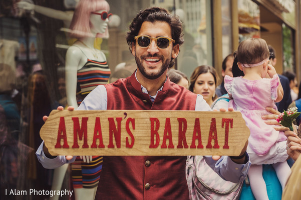 Special guest looking amazing during baraat.