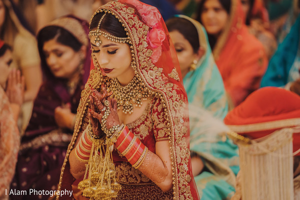 Gorgeous Maharani having a spiritual moment.