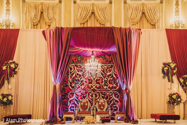 Gorgeous Indian wedding venue decor.