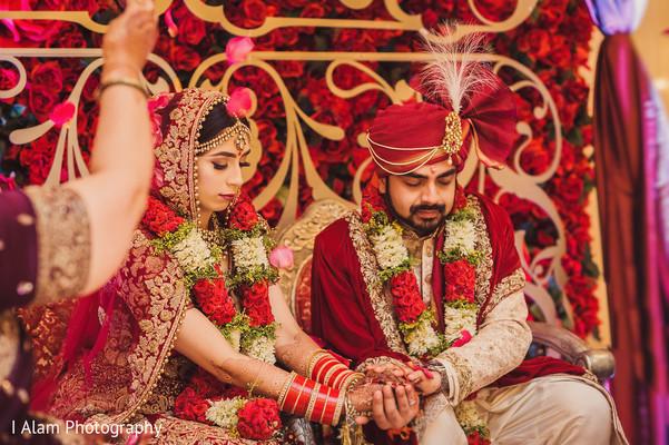 Indian bride and Raja looking stunning.