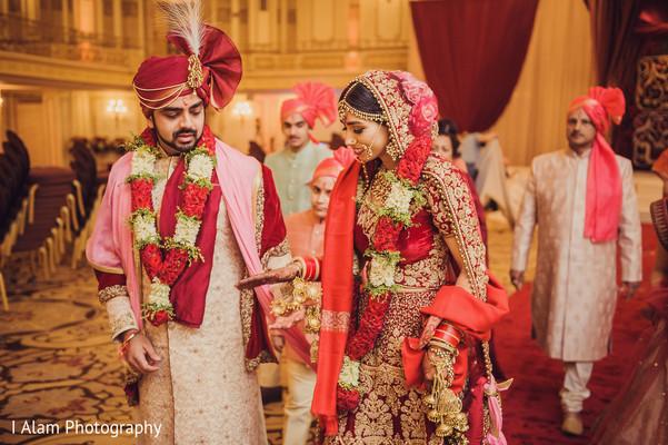 Stunning Maharani with Raja looking beaming.