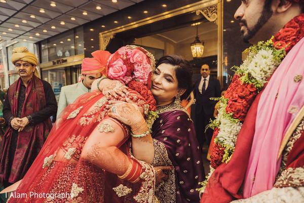 Indian bride with special guest.