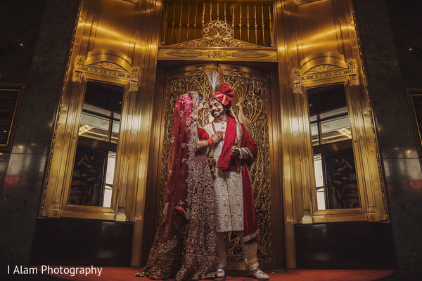 Indian bride and groom looking stunning.