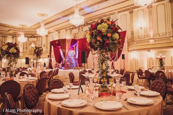Gorgeous floral decor details.
