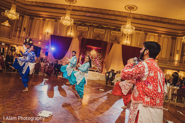 Dancers during the reception.