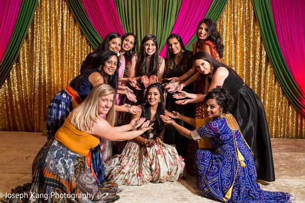 Maharani and bridesmaids looking stunning.