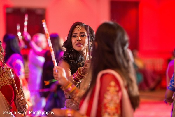 Indian bride having a gorgeous time.