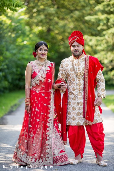 Stunning Indian couple posing.