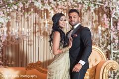 Maharani and Raja during the reception photoshoot.
