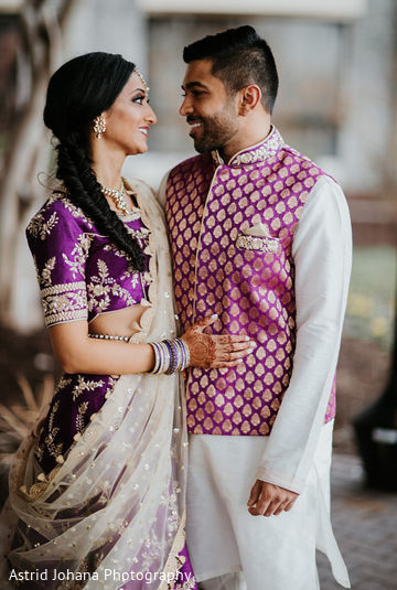 Indian bride and groom looking gorgeous.