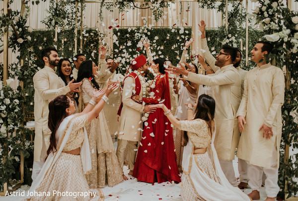 Indian groom and Maharani looking amazing.