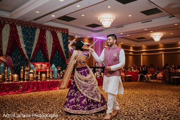 Maharani and Raja dancing prior to the bash.