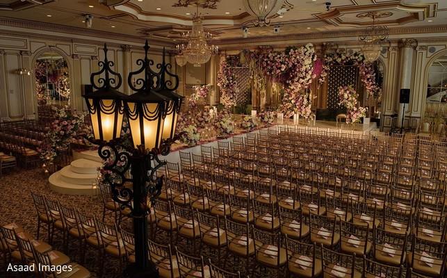 Stunning Indian wedding ceremony setup decoration.