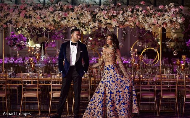 Gorgeous Indian bride on her reception wedding lehnga.