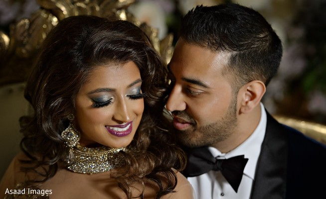 Lovely indian bride and groom's capture.