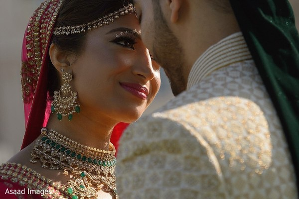 Take a look into this sweet look from bride to groom