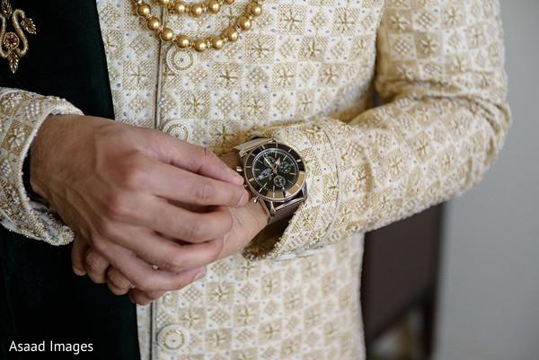 Indian groom's jewelry accessories