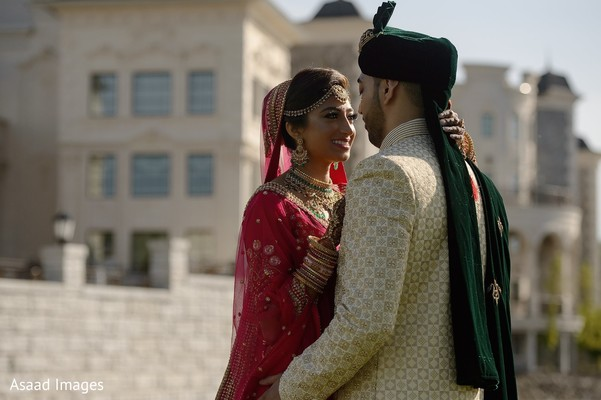 Charming indian bride and groom portrait