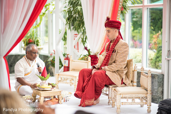 Indian groom waiting for his maharani.