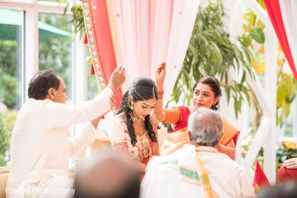 Indian bride during her wedding.