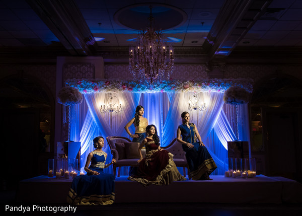 Mesmerizing Maharani and bridesmaids.