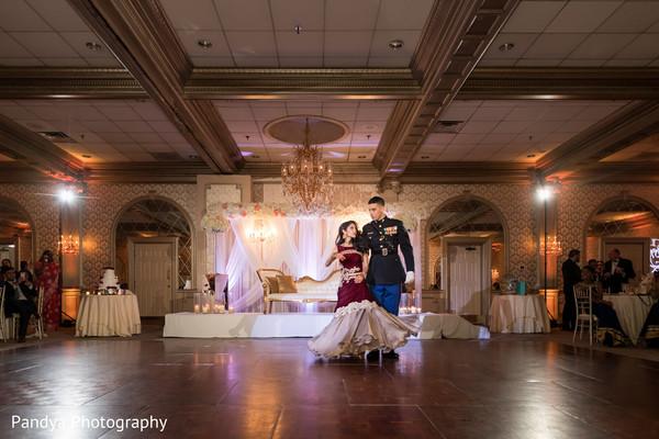 Stunning Indian couple dancing.